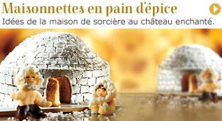 Inspirations pour maisonnettes en pain d'épice