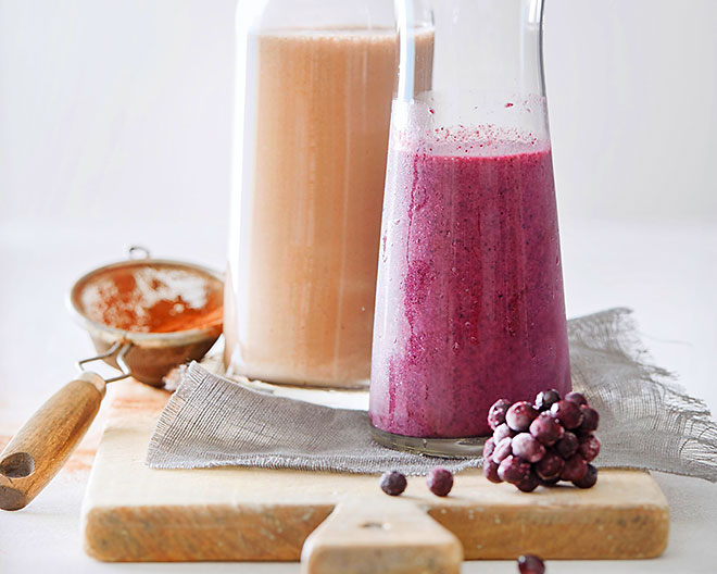 Superfood in flüssiger Form: trendige Smoothies.