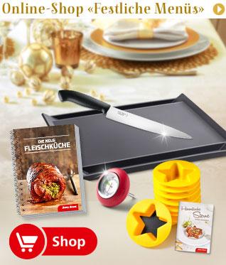 Online-Shop «Festliche Menüs»