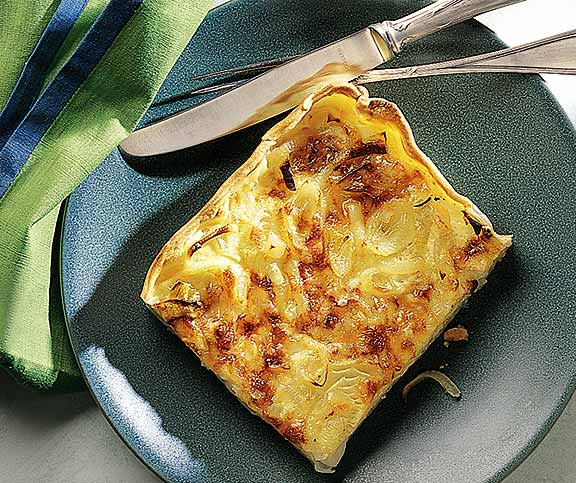 Quiche oignons-fromage