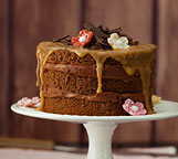 Minitourte chocolat-caramel