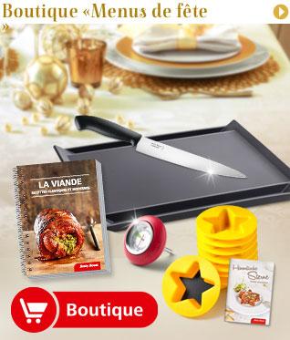 Boutique «Menus festifs»