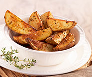 Wedges (quartiers de pommes de terre au four)