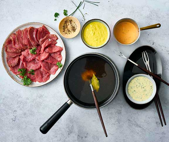 Chinoise & Co.: Feine Fondues zum Fest