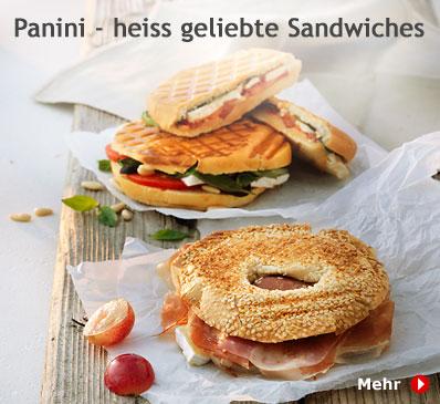 Panini - heiss geliebte Sandwiches