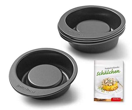Grosse Backförmchen «Gourmet» (4er-Set)
