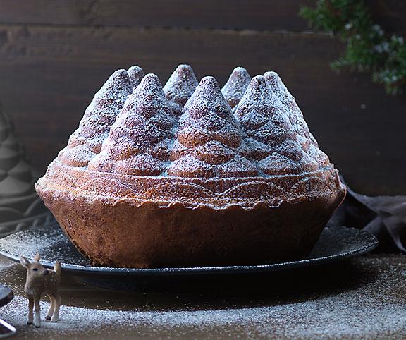 Le clou de votre repas de fête: un kouglof 3D en forme de sapin.