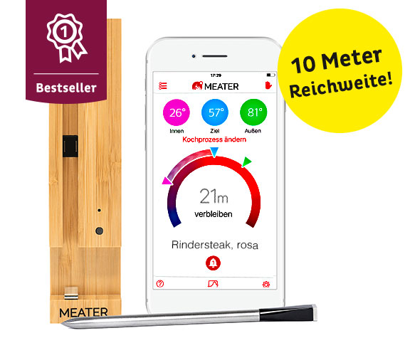 Kabelloses Fleisch-Thermometer «Deluxe»
