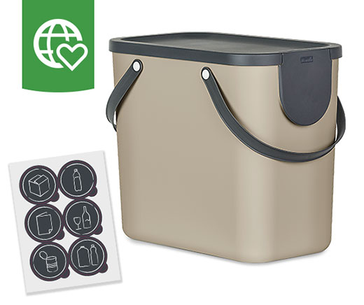 Rotho Recycling-Box, beige, 25 l