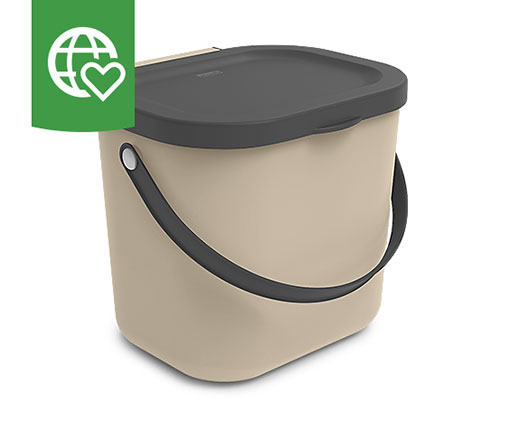 Rotho Recycling-Box, beige, 6 l