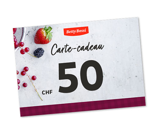 Carte-cadeau Betty Bossi de CHF 50.00