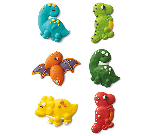 Decora Zuckerdekor Dinos - 6er-Set