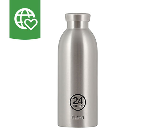 24 Bottles Thermosflasche Clima «Stahl» 0.5l