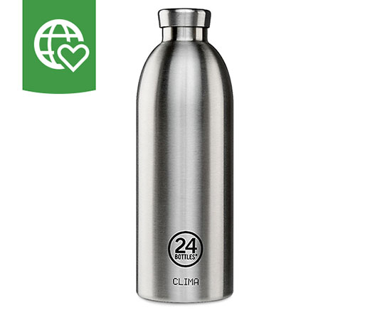 24 Bottles Thermosflasche Clima «Stahl» 0.85l