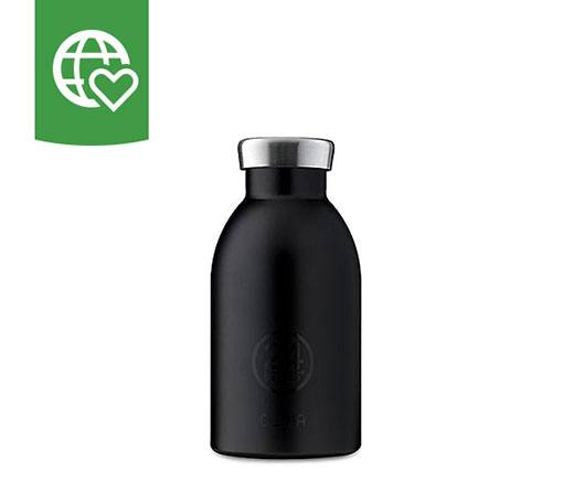 24 Bottles Thermosflasche Clima «Noir» 0.33l