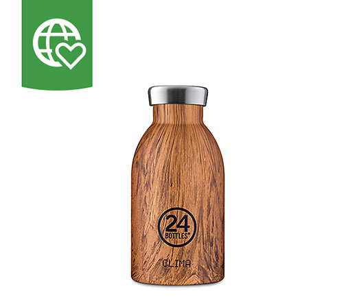 24 Bottles Thermosflasche Clima «Holz» 0.33l