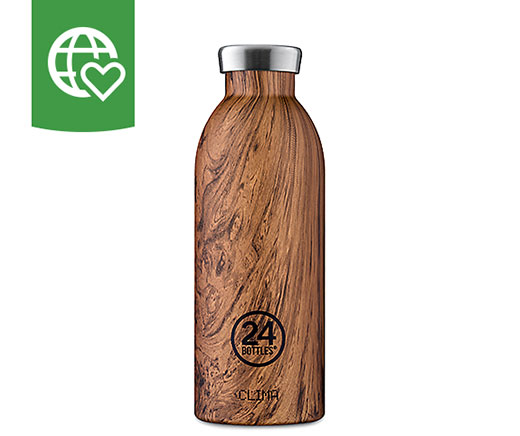 24 Bottles Thermosflasche Clima «Holz» 0.5l