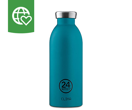 24 Bottles Thermosflasche Clima «Türkis» 0.5 l