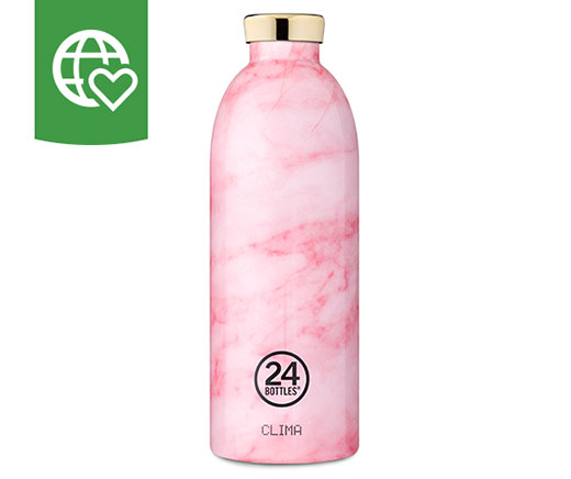 24 Bottles Thermosflasche Clima «Rosa Marmor» 0.85 l