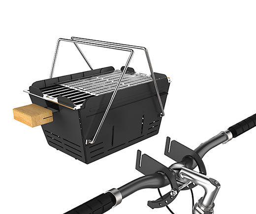 Knister Support barbecue pour vélo