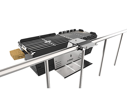 Support barbecue Knister pour balcon