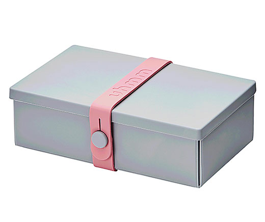 Uhmm Box Lunchbox No. 01, grau rosa