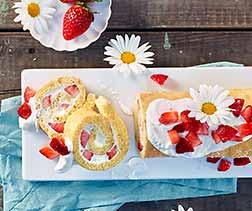 Erdbeer Quarkroulade
