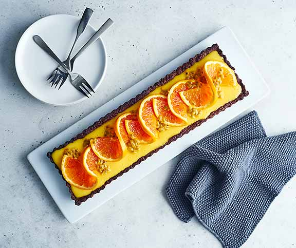 Tarte orange-fruits de la passion