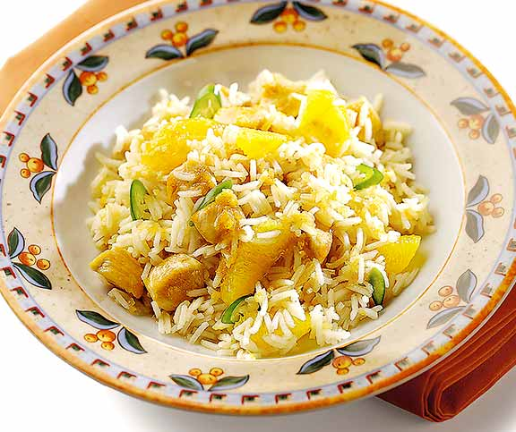 Riz à l'orange et au poulet