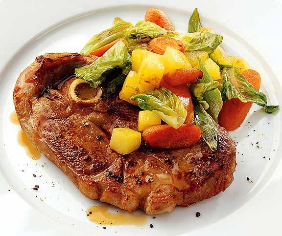 Gigot Steaks Mit Frühlingsgemüse Betty Bossi