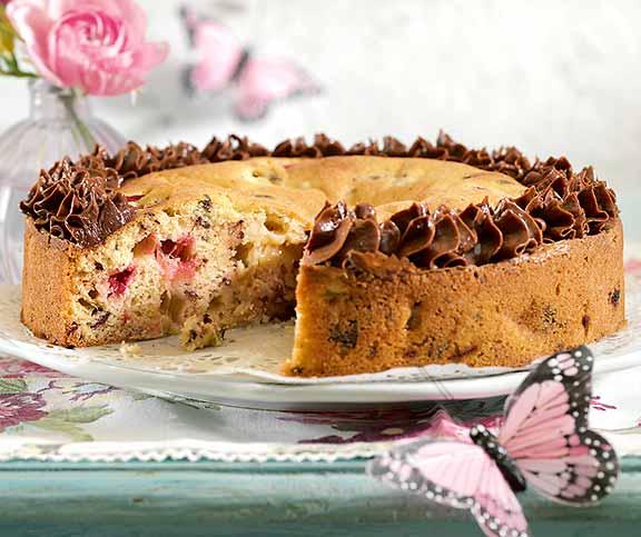 Rhabarber Schokolade Kuchen Betty Bossi