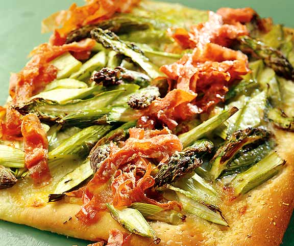Spargel-Pizza