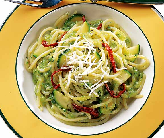 Spaghettis sauce aux courgettes betty bossi - Comment cuisiner courgette spaghetti ...