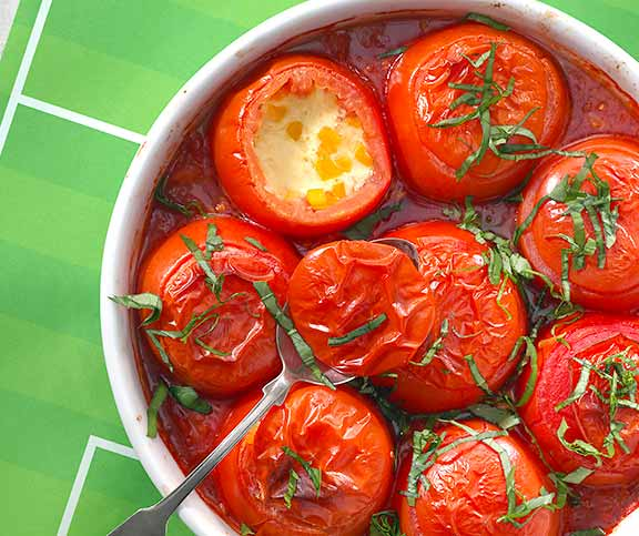 Tomates farcies au fromage