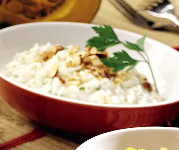 Risotto noisettes et fromage