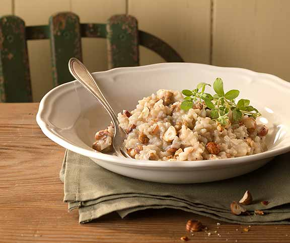 Haselnuss-Risotto