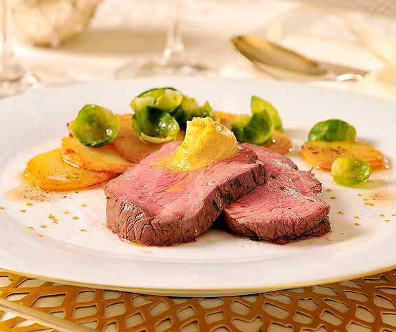 Chateaubriand et beurre curry-orange