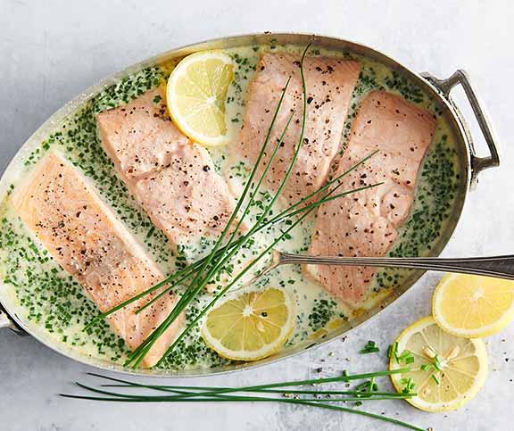 Filets De Saumon A La Creme Ciboulette Betty Bossi