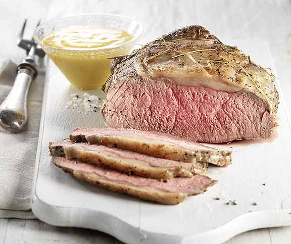 Roastbeef mit Ingwer-Hollandaise