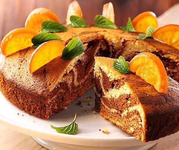 Gestreifter Orangenkuchen Betty Bossi